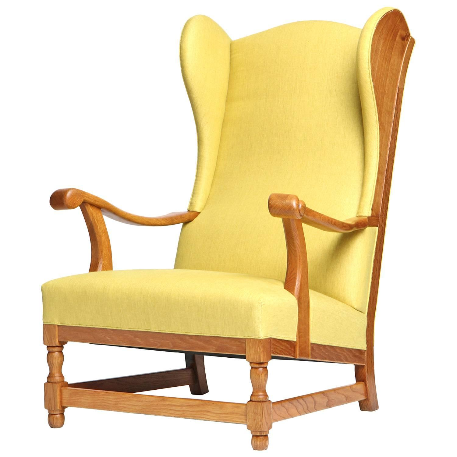 Scandanivian Wingback Chair For Sale at 1stdibs