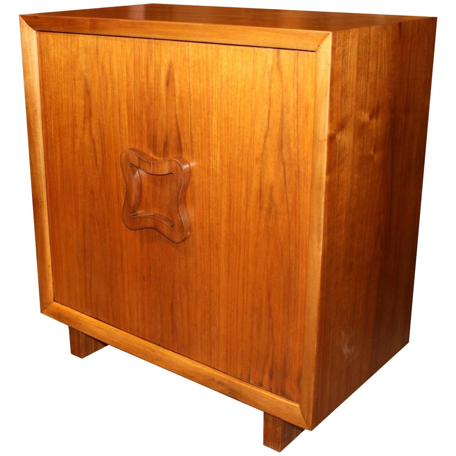 Rare Mid Century Modern Dry Bar Cabinet For Sale At 1stdibs