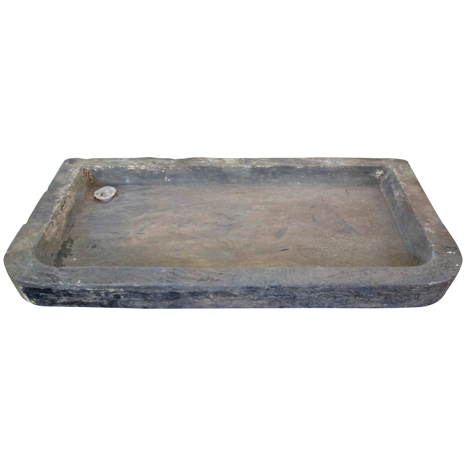 French Stone Sink : 19th C. French Stone Sink at 1stdibs
