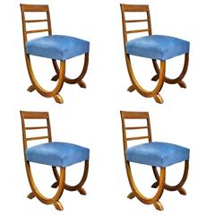 New Objectivity Set of Four Chairs by Fritz August Breuhaus de Groot