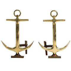 Pair of Anchor Andirons by Puritan