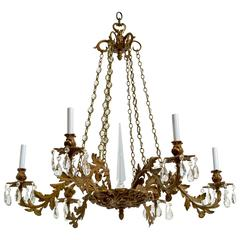 Late 19th Century Cast Bronze Chandelier