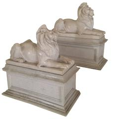 Large Pair of Lion Bookends