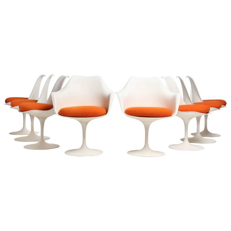 Saarinen Tulip Chair tulip chairseero saarinen for sale at 1stdibs