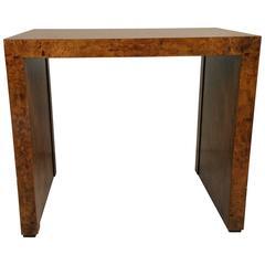 Burlwood Table Designed by Milo Baughman