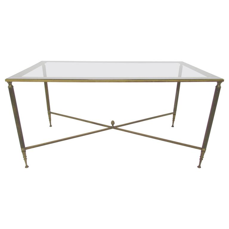 Hollywood Regency Cocktail Coffee Table in the Style of Maison Jansen For Sale