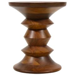 Eames Time Life Walnut Stool by Herman Miller