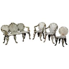 19th Century Rare Italian Grotto Furniture in Wood