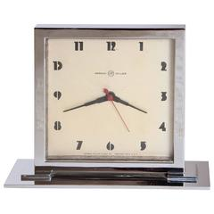 Gilbert Rohde for Herman Miller Original Working Machine Age Skyscraper Clock