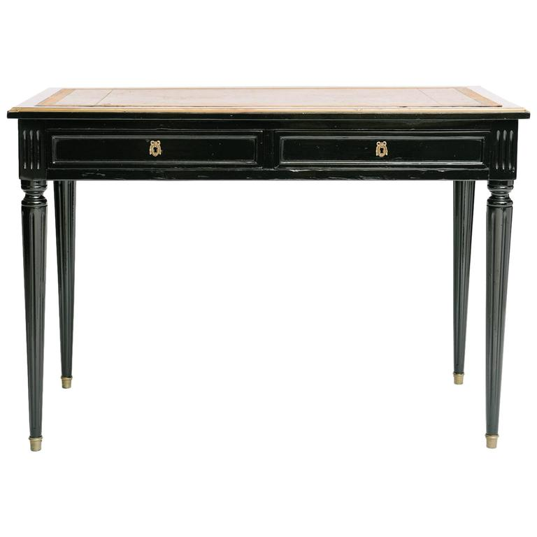 french louis xvi style lacquered bureau plat at 1stdibs. Black Bedroom Furniture Sets. Home Design Ideas