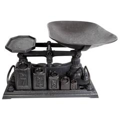 English, 19th Century Polished Cast Iron Scale