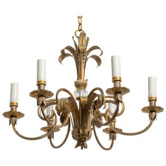 Brass Plume Chandelier