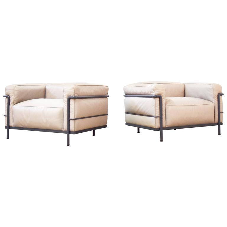 """Pair of Le Corbusier LC3 """"Grand Confort"""" Chairs by Cassina"""