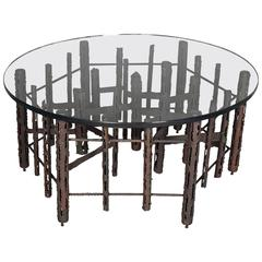 Paul Evans Brutalist-style Circular Coffee Table