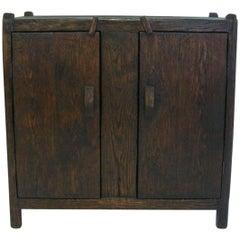 Dos Gallos Custom Rustic Spanish Style Oakwood Cabinet
