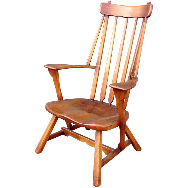 Modernist Maple High Back Armchair by Sykes