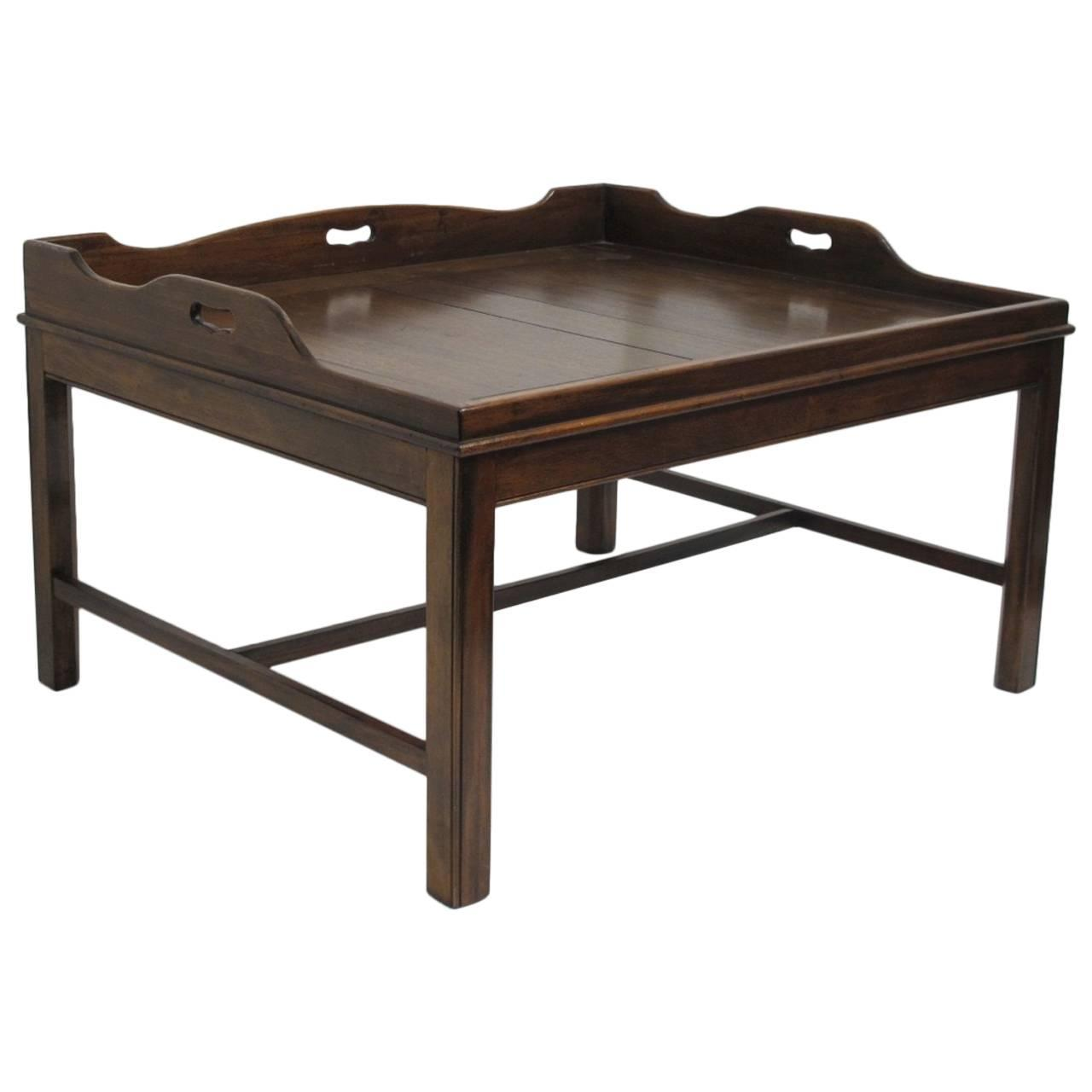 Georgian Mahogany Butler 39 S Tray Coffee Table For Sale At 1stdibs