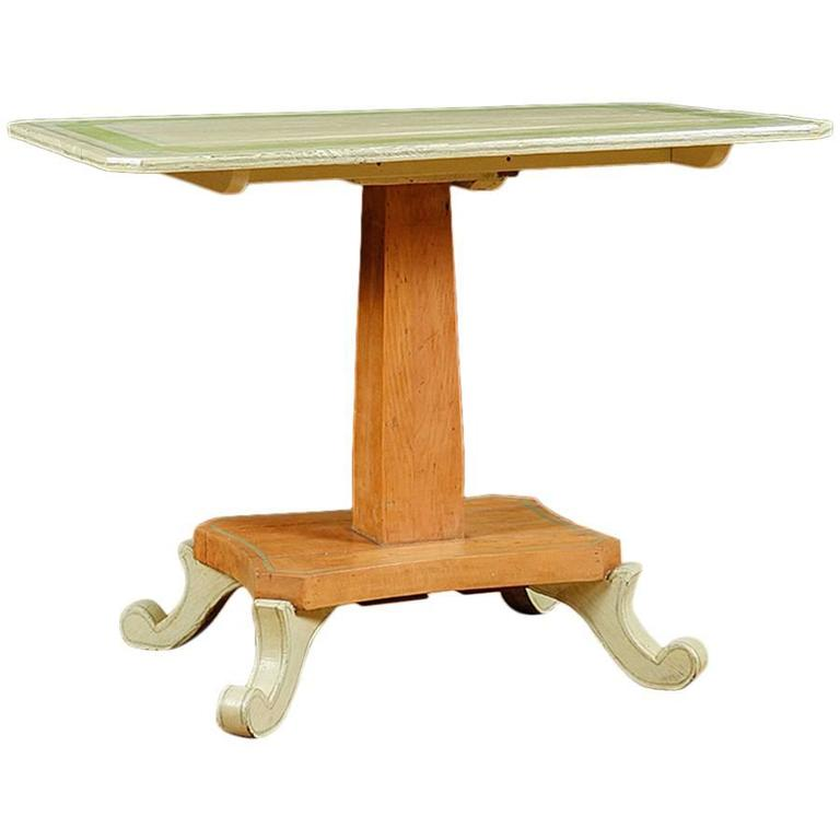 Tilt-Top Table in Painted European Pine, circa 1835