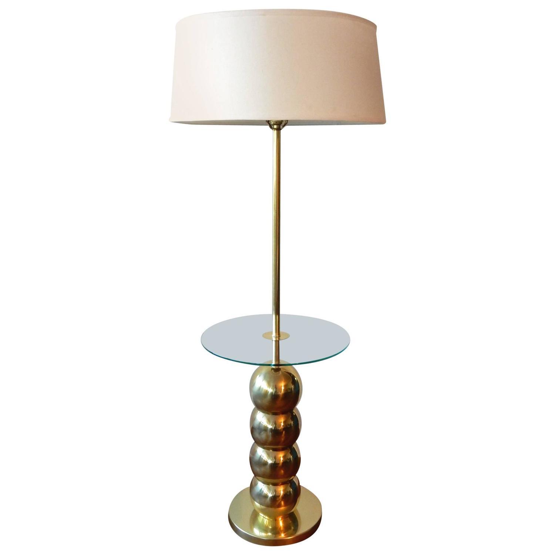 mid century modern george kovacs stacked brass ball floor lamp table. Black Bedroom Furniture Sets. Home Design Ideas