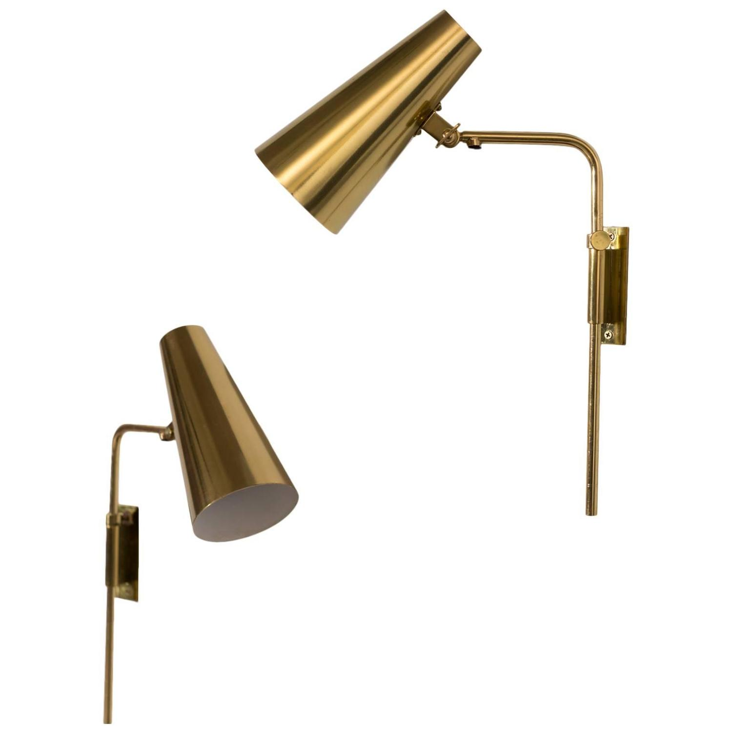 Paavo Tynell Adjustable Reading Wall Lamps, Taito OY at 1stdibs