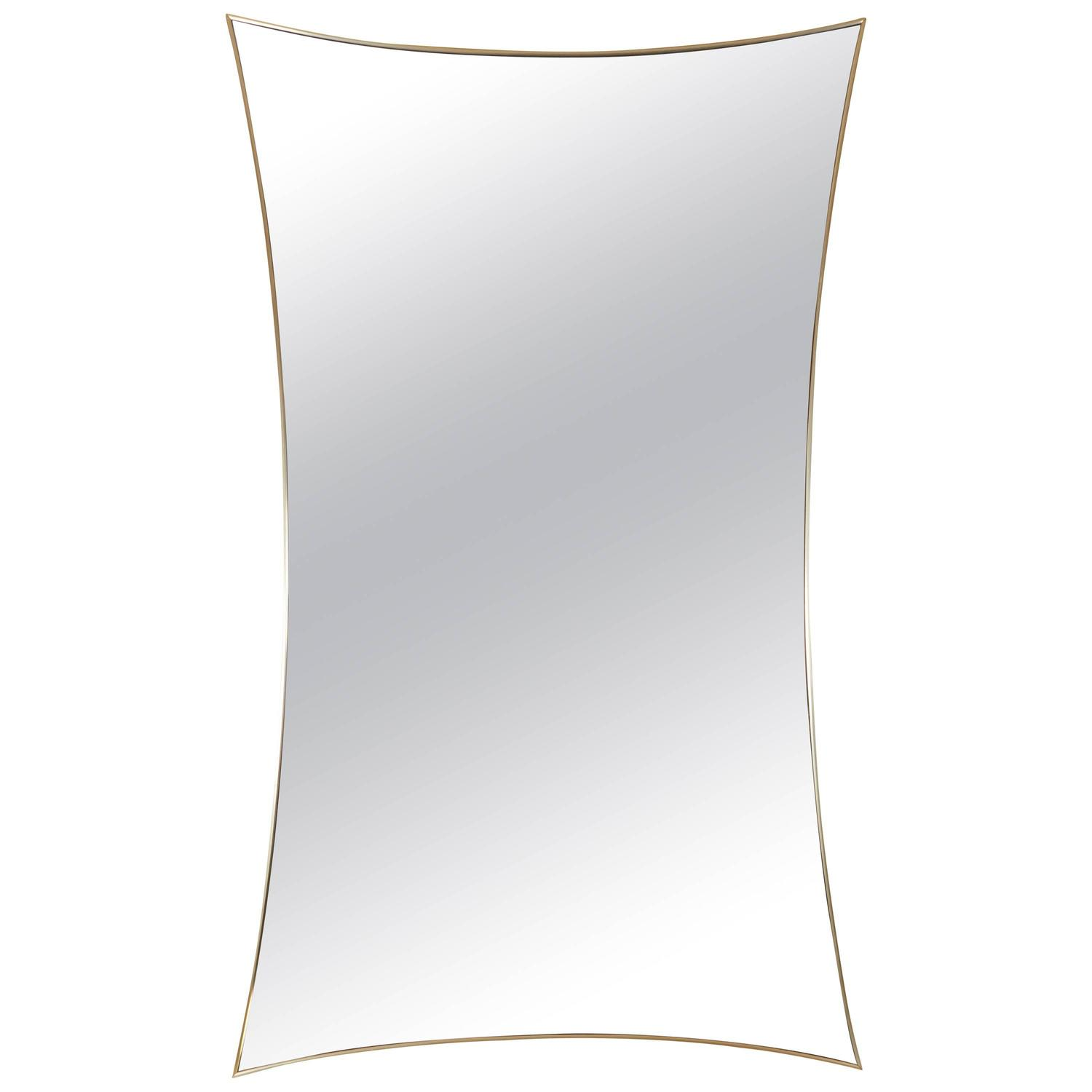 Graceful brass thin edge mirror by la barge at 1stdibs for Thin wall mirror