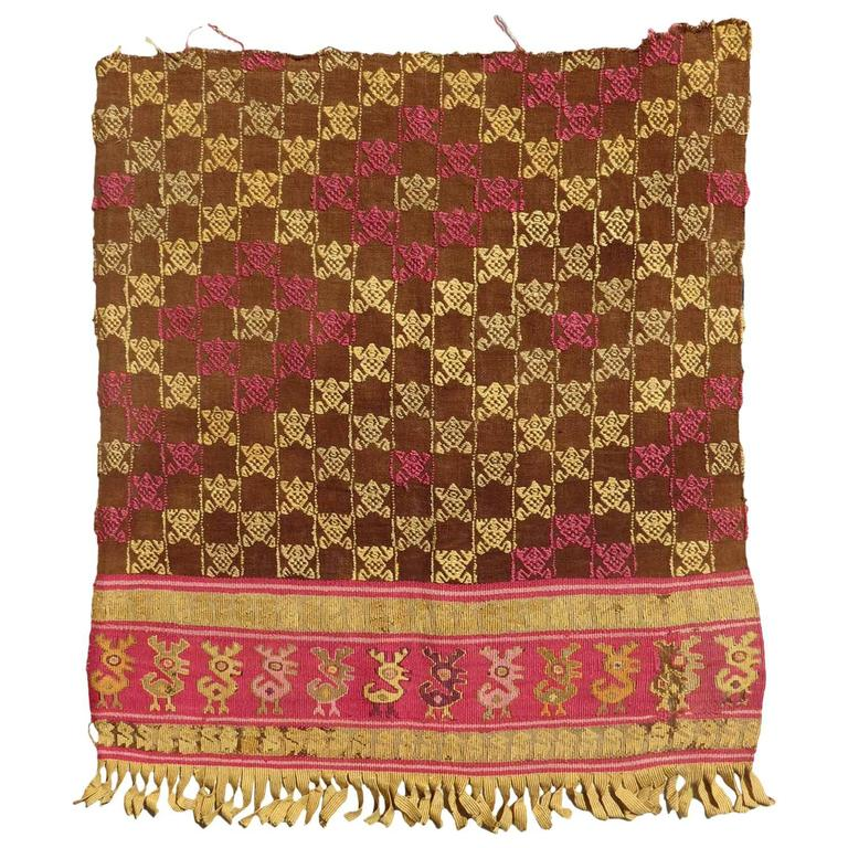 Pre Colombian Tunic Fragment Chimu Culture Peru 15th