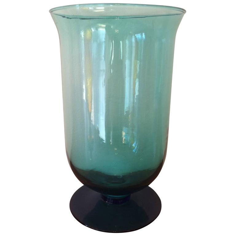 Midcentury Blenko Vase Glass Planter