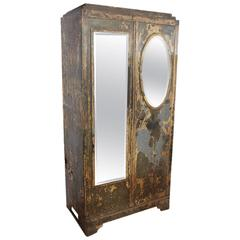 Antique French Metal Cabinet