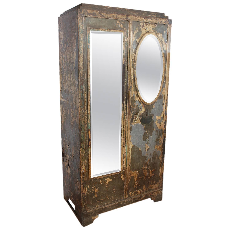 antique french metal cabinet for sale at 1stdibs. Black Bedroom Furniture Sets. Home Design Ideas