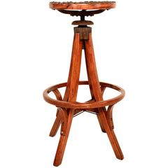 Industrial Antique Architect's Drafting Stool