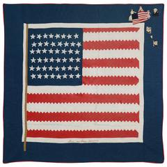 "Patriotic Quilt Titled ""Stars and Stripes"" Forever"