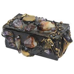 Brutalist Small Jeweled Sculptural Box