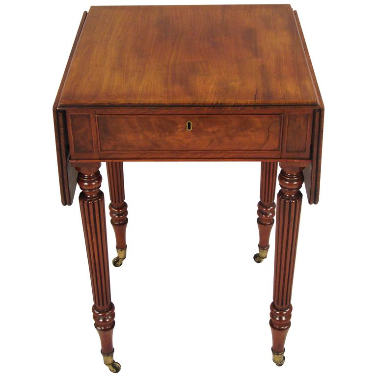 Small Regency Mahogany Drop Leaf Table in the Manner of  : 3597582l from www.1stdibs.com size 768 x 768 jpeg 37kB