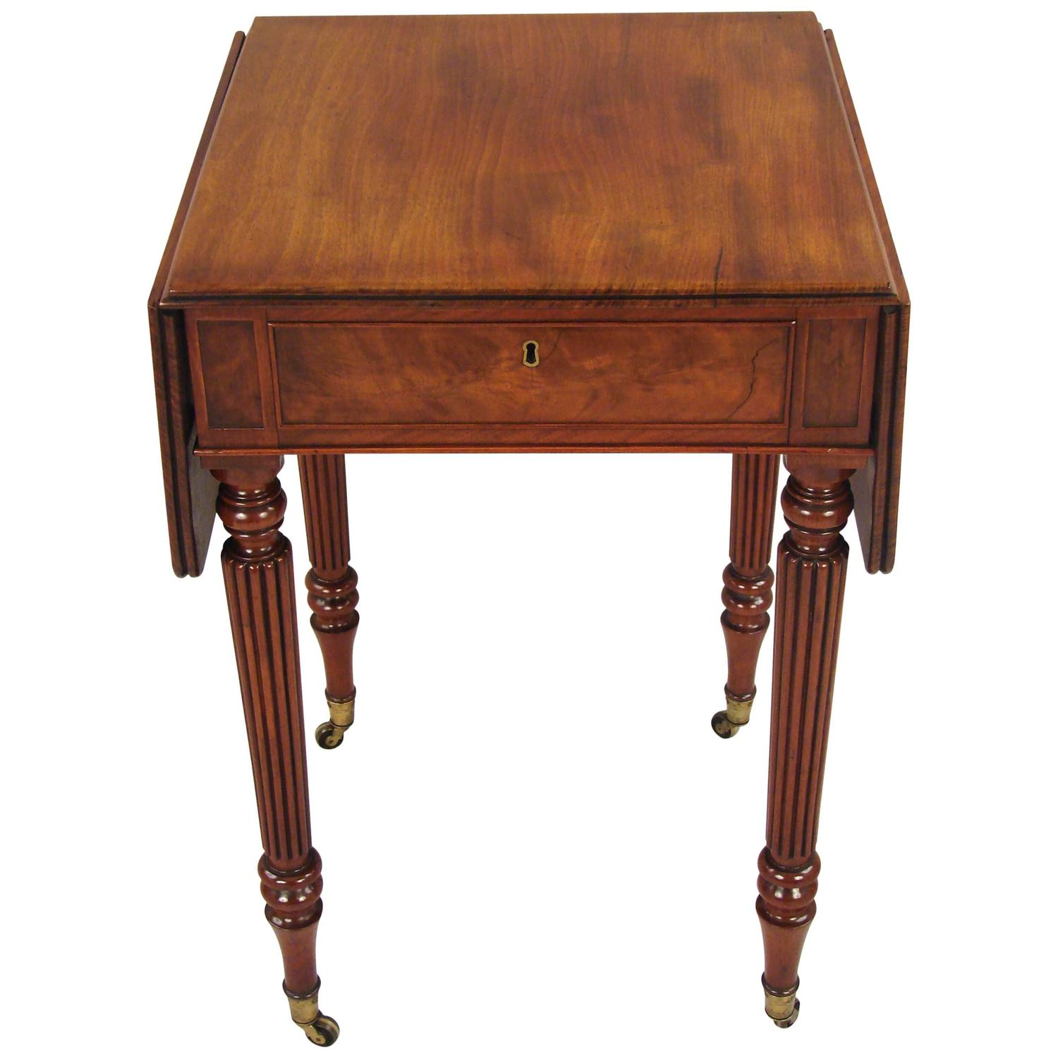 Small Regency Mahogany Drop Leaf Table In The Manner Of