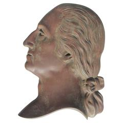 19th Century Bronze Plaque of George Washington