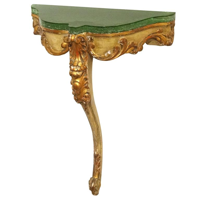 Italian Giltwood and Painted Console For Sale