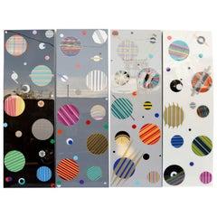 Set of Four Intergalactic Panels by Mauro Oliveira