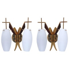 Double Bombe Sconces from Italy