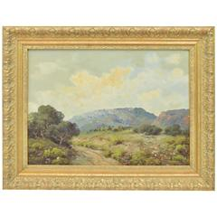 Tradtional Texas Landscape Oil Painting, Signed AD Greer