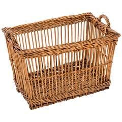 Turn-of-the-Century Wicker Vineyard Basket, Alsace, France, circa 1900