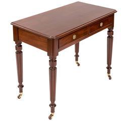 """19th Century Mahogany 36"""" Writing Table, England, circa 1850"""