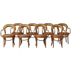 Shelby Williams, Set of Eight Bistro Chairs
