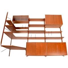1958 Danish Walnut Cado Wall Unit with Corner Section by Poul Cadovius