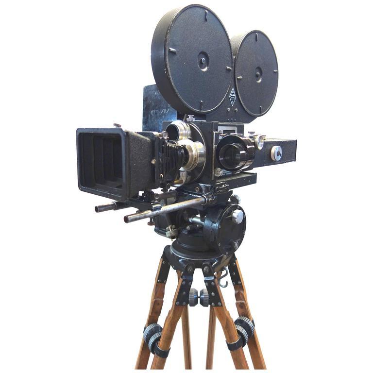 Movie Camera 35mm Mitchell Film Camera as Sculpture Hollywd Original circa 1940s