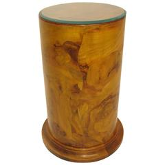 Italian Fruitwood Pedestal Side Table or Plant Stand