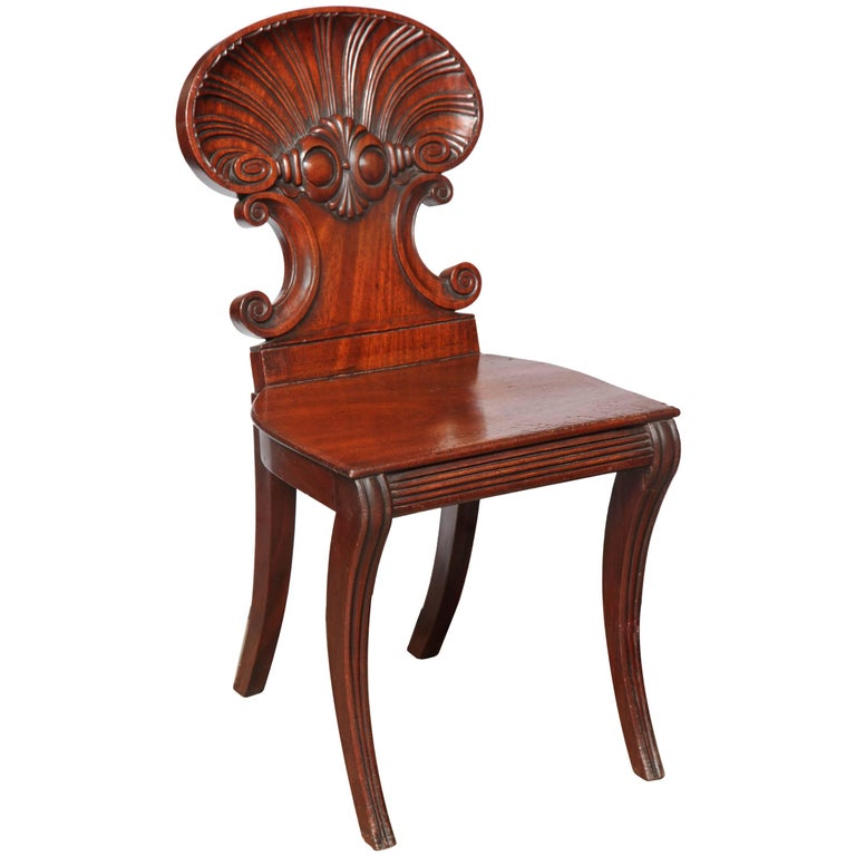 Regency Hall Chair by Gillows of Lancaster For Sale