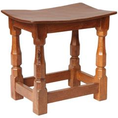 "Robert ""Mouseman"" Thompson Oak Joint Stool"