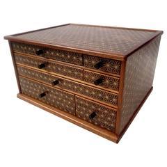 Mid Century Modern Rosewood Japanese Jewelry Dresser Tansu Box