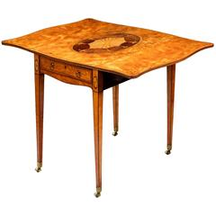 Sheraton Satinwood and Marquetry Pembroke Table