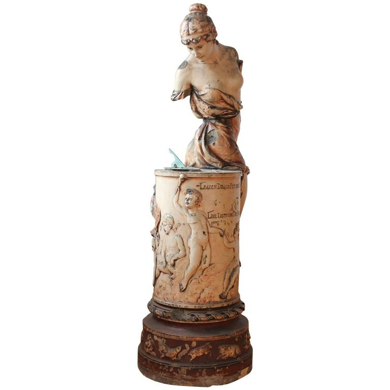 1800s Terra Cotta Statue from 1893 Chicago Colombian Exposition